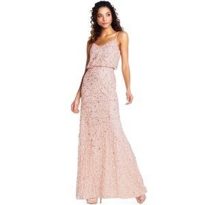 Adrianna Papell Sequin Dress - Blush